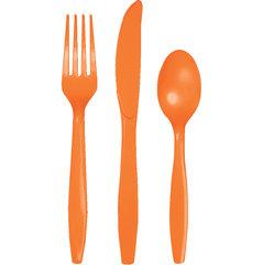 Набор столовых приборов, оранжевый