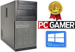 DELL Optiplex 7010 Core i5-3570 16GB 240SSD + 1TB HDD GTX1650 4gb Windows 10 Professional (Renew) hind ja info | Lauaarvutid | kaup24.ee
