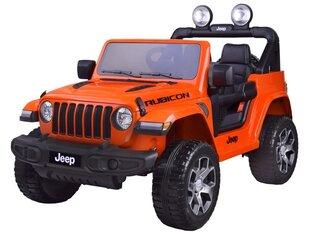 Kahekohaline elektriauto JEEP Wrangler Rubicon, oranž hind ja info | Kahekohaline elektriauto JEEP Wrangler Rubicon, oranž | kaup24.ee