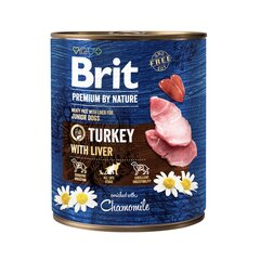 Konserv koertele Brit Premium by Nature Turkey with Liver 800g цена и информация | Konserv koertele Brit Premium by Nature Turkey with Liver 800g | kaup24.ee