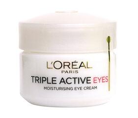 Silmakreem Triple Active Eyes L'Oreal Paris 15 ml hind ja info | Silmakreemid, seerumid | kaup24.ee