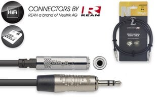 Stagg REAN 3.5mm AUX TRS - 3.5mm AUX TRS/f, 3m hind ja info | Juhtmed, adapterid | kaup24.ee