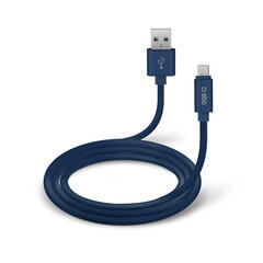 Micro-Usb Data Cable And Charger Polo Collection 1m By SBS Blue hind ja info | Micro-Usb Data Cable And Charger Polo Collection 1m By SBS Blue | kaup24.ee
