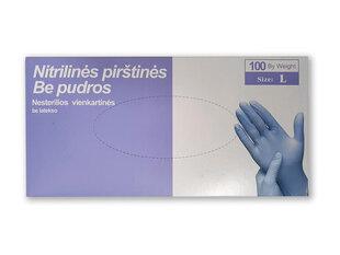 Ühekordsed nitriilkindad 100 tk, värv sinine, suurus L hind ja info | Ühekordsed nitriilkindad 100 tk, värv sinine, suurus L | kaup24.ee