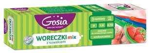 Säilituskotid Gosia Zipper mix, 12 tk