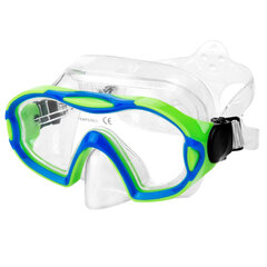 Sukeldumismask lastele Spokey Eli, sinine/roheline hind ja info | Sukeldumine | kaup24.ee