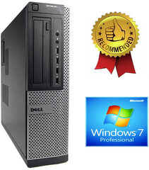 Dell Optiplex DT 790 i5-2400S 8GB 240GB SSD 500GB HDD DVDRW Windows 7 Pro hind ja info | Dell Optiplex DT 790 i5-2400S 8GB 240GB SSD 500GB HDD DVDRW Windows 7 Pro | kaup24.ee