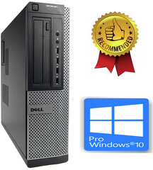 Dell Optiplex DT 790 i5-2400S 8GB 120GB SSD 1TB HDD DVDRW Windows 10 Pro hind ja info | Lauaarvutid | kaup24.ee