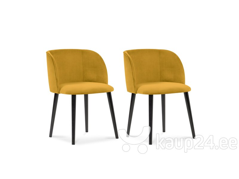 2-tooli komplekt Windsor and Co Aurora, kollane hind ja info | Söögilaua toolid, köögitoolid | kaup24.ee