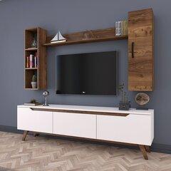Sektsioon Kalune Design M9, valge/pruun цена и информация | Мебель для гостиной | kaup24.ee