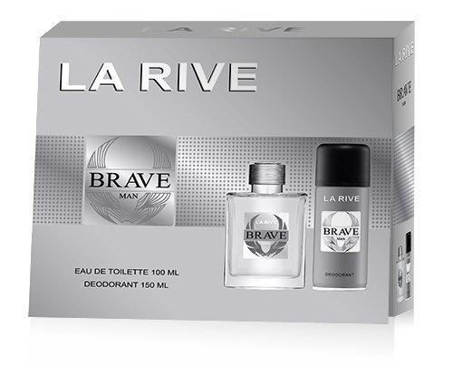 Комплект La Rive Brave: EDT для мужчин 100 ml + дезодорант 150 ml