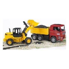Kallur veoauto + traktor laaduriga BRUDER 02752