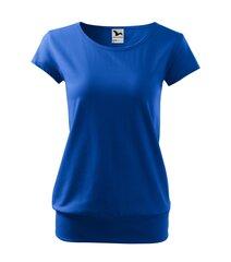 City футболка для женщин яркий оттенок синего цвета цена и информация | Женская футболка | kaup24.ee