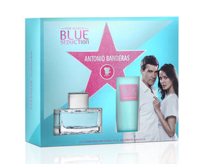 Komplekt Antonio Banderas Blue Seduction: EDT naistele 50 ml + kehalosjoon 100 ml