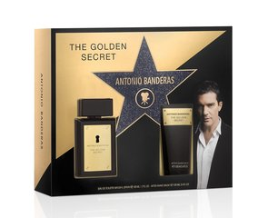 Комплект Antonio Banderas The Golden Secret: EDT для мужчин 50 ml + бальзам после бритья 100 ml