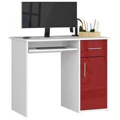 Kirjutuslaud NORE Pin, valge/punane hind ja info | Kirjutuslaud NORE Pin, valge/punane | kaup24.ee