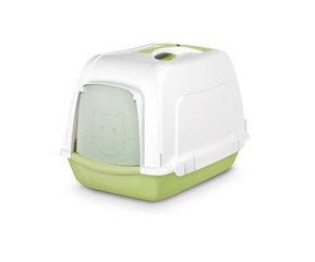 Pet Inn WC- maja SPACE CAT Classic line, valge - roheline