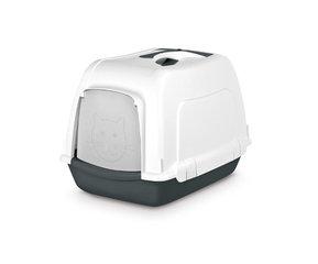 Pet Inn WC- maja SPACE CAT Classic line, valge - must hind ja info | Liivakastid kassidele | kaup24.ee