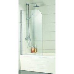 Стенка для ванной A6211 80x150 прозрачная цена и информация | Аксессуары для сантехники | kaup24.ee