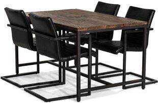 Söögitoa komplekt VG6159, must/pruun hind ja info | Köögimööbel | kaup24.ee