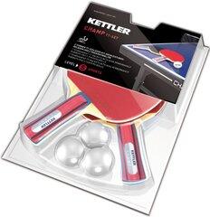 Комплект для настольного тенниса KETTLER Champ  цена и информация | Столы для настольного тенниса, ракетки и мячики | kaup24.ee