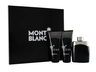 Комплект Mont Blanc Legend: edt 100 мл + бальзам помле бритья 100 мл + гель для душа 100 мл