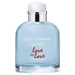 Tualettvesi Dolce & Gabbana Light Blue Love Is Love Pour Homme EDT 75 ml hind ja info | Meeste parfüümid | kaup24.ee