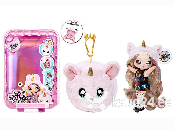 Na! Na! Na! Surprise 2-in-1 Fashion Doll & Plush Pom with Confetti Balloon hind
