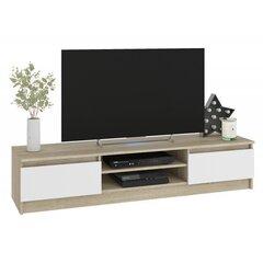 TV laud NORE CLP 160, tamm/valge hind ja info | TV alused | kaup24.ee