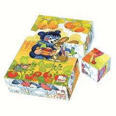 Деревянные кубики Bino Медведь, 15 д. цена и информация | Деревянные кубики Bino Медведь, 15 д. | kaup24.ee