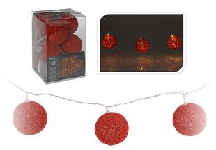Jõulutuled, 10 LED, punased pallid