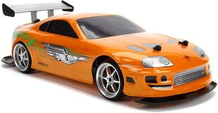 Raadio teel juhitav mudelauto Simba Jada Toys Fast & Furious 1995 Toyota Supra Drift 1:10 hind ja info | Poiste mänguasjad | kaup24.ee