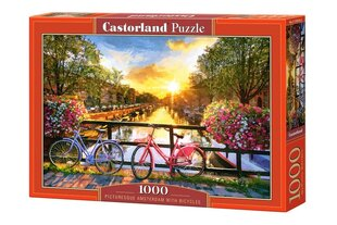 Pusle Castorland Picturesque Amsterdam with Bicycles 1000 tk. hind ja info | Pusle Castorland Picturesque Amsterdam with Bicycles 1000 tk. | kaup24.ee