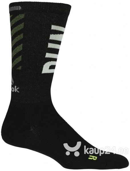 Sokid Reebok Running Crew Socks Black Green Internetist