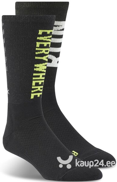 Sokid Reebok Running Crew Socks Black Green