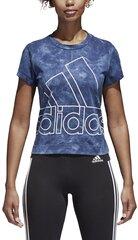 Pluus Adidas W Id Slim Tee Blue hind ja info | Naiste T-särgid | kaup24.ee