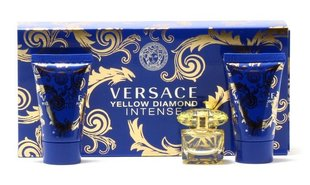 Komplekt Versace Yellow Diamond Intense: EDP naistele 5 ml + dušigeel 25 ml + kehalsojoon 25 ml
