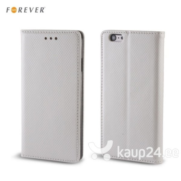 Kaitseümbris Forever Smart Magnetic Fix Book / Samsung Galaxy S6 Edge+ (G928), Hõbedane