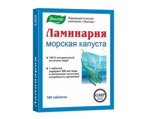Evalar, Kelp, 100 tabletti hind ja info | Vitamiinid ja mineraalid tervise parandamiseks | kaup24.ee