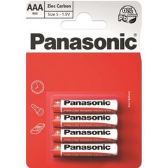 Батарейки Panasonic RED Zinc R03 (AAA) 4BP M1111