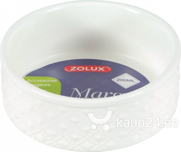 Lemmiklooma kauss Zolux Margot White, 200 ml