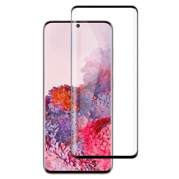 LCD kaitsev karastatud klaas MyScreen Diamond Edge 3D Samsung G988 S20 Ultra/S11 Plus, must tagasiside