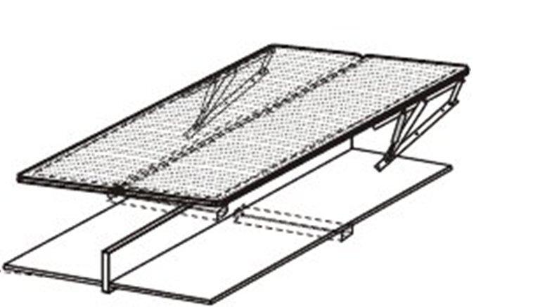 Voodilipid lahtikäivale voodile 120x200 cm