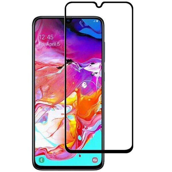 Ekraani kaitseklaas telefonile SAMSUNG A21 Tempered glass Full Glue, Full Cover SOUNDBERRY hind ja info | Ekraani kaitsekiled | kaup24.ee