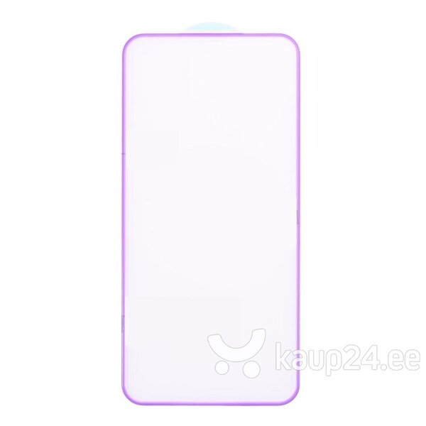 Ekraani kaitseklaas telefonile SILICONE EDGE iPhone X/XS/11 PRO PURPLE Tempered glass Full Glue, Full Cover SOUNDBERRY hind ja info | Ekraani kaitsekiled | kaup24.ee