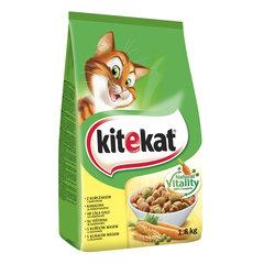 KITEKAT Сухой корм для кошек с курицей и овощами 1.8 кг цена и информация | Сухой корм для кошек | kaup24.ee