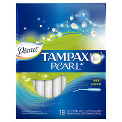 Tampoonid Tampax Pearl Super, 18 tk