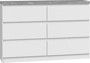 Kummut Malwa M6 B22 120, valge/hall hind ja info | Kummutid | kaup24.ee