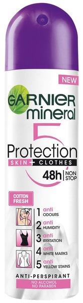 Spreideodorant Garnier Mineral Protection 5 Cotton Fresh