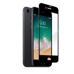 Fusion Full Glue 5D karastatud klaas täiskattega raamiga Apple iPhone 7/8 / SE 2020 must hind ja info | Ekraani kaitsekiled | kaup24.ee